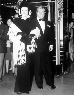 Jean Gabin and Marlene Dietrich at the premiere of Sundown, October 1941