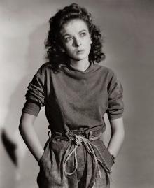 Ida Lupino in wardrobe for Moontide