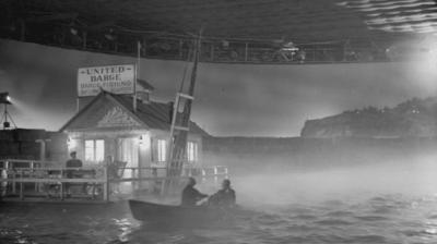 Noir lighting on the watery set of Moontide