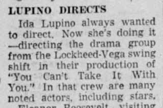 Ida Lupino Directs, Hedda Hopper. Apr 28 1943