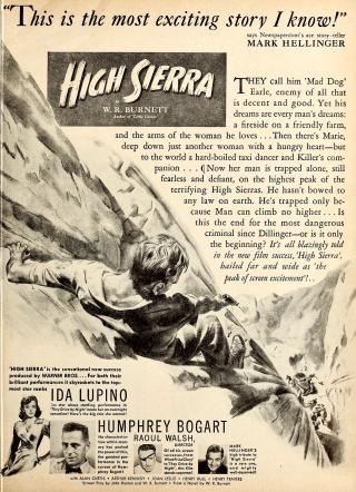 Ad for High Sierra in Modern Screen magazine, February 1941