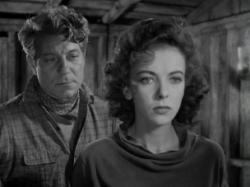 Jean Gabin and Ida Lupino in Moontide
