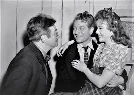 Claude Rains, Jean Gabin and Ida Lupino on the set of Moontide