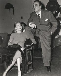 Producer Benedict Bogeaus with wife, actress Dolores Moran, circa 1950s