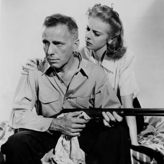 Humphrey Bogart and Ida Lupino in a promotional still for High Sierra