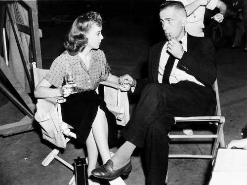 Ida Lupino and Humphrey Bogart behind the scenes on High Sierra