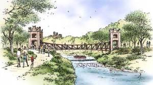 Museum Reach Pedestrian Bridge (San Antonio River Foundation)